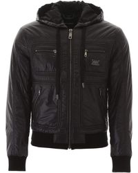 Dolce & Gabbana Hooded Bomber Jacket - Black