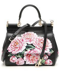 Dolce & Gabbana Peonies Small Sicily Bag - Multicolour