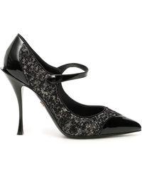 Dolce & Gabbana Lori Mary Jane Pumps - Black