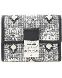 MCM Mini Trifold Wallet Os Leather,cotton - Black