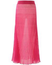 Jacquemus Gonna Helado in maglia plisse misto cotone - Rosa