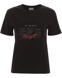 Saint Laurent Call Me After Midnight T-shirt - Black