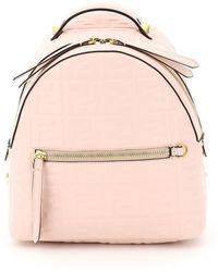 Fendi Nappa Ff Mini Backpack Os Leather - Pink