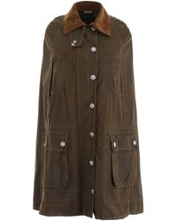 Miu Miu Waxed Cape - Green