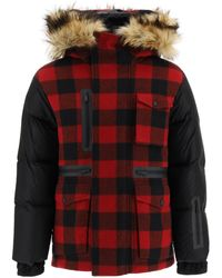 DSquared² Two-material Parka With Removable Interior 46 Technical,wool - Red
