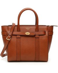 Mulberry Zipped Bayswater Mini Bag - Brown