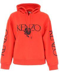 KENZO - Rose Logo Hoodie - Lyst
