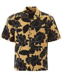 Jacquemus Floral Print Short Sleeve Shirt - Black
