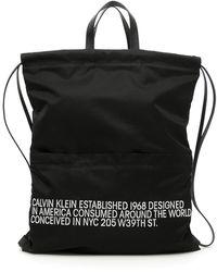 CALVIN KLEIN 205W39NYC Drawstring Backpack - Black