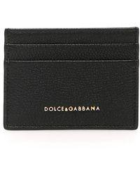 Dolce & Gabbana Grain Leather Cardholder - Black