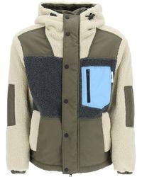 MSGM Nylon And Sherpa Jacket - Multicolour