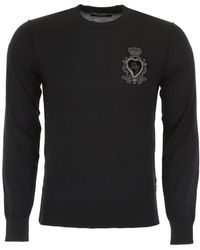 Dolce & Gabbana - Pullover With Sacred Heart - Lyst