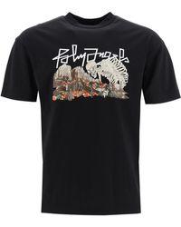 Palm Angels Desert Skull Tree T Shirt - Black