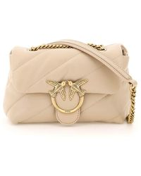 Pinko Love Mini Puff Maxi Quilt Bag - Natural
