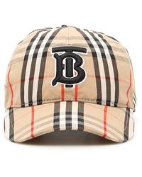 Burberry CAPPELLO BASEBALL VINTAGE CHECK CON MONOGRAM - Multicolore