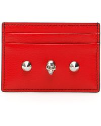 Alexander McQueen Skull Card Holder - Red