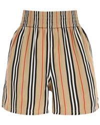 Burberry Marsett Striped Silk Shorts - Multicolor