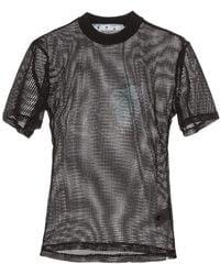 Off-White c/o Virgil Abloh Printed Net Top - Black