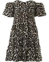 Pinko - Zebra Print Mini Dress - Lyst
