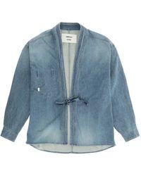 Ambush Kimono Denim Shirt S Cotton,denim - Blue