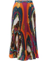 Versace Pleated Maxi Skirt - Multicolor