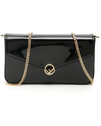 Fendi F Buckle Mini Bag - Black