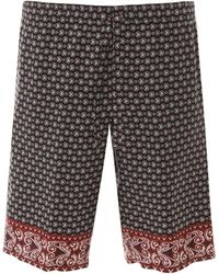 Dolce & Gabbana Bandana Print Shorts - Black