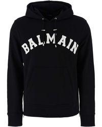 Balmain Logo Hoodie - Black