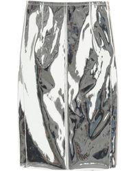 N°21 GONNA IN PVC - Metallizzato