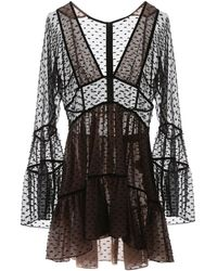 DSquared² Fil Coupe Dress 42 Silk - Black