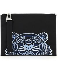 KENZO Tiger Large Pouch - Blue