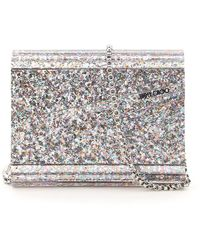 Jimmy Choo CLUTCH GLITTER MULTICOLOR ACRYLIC CANDY - Metallizzato