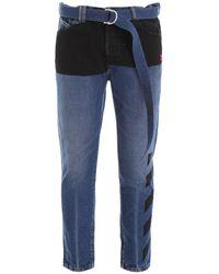 Off-White c/o Virgil Abloh Dropped Crotch Jeans - Blue