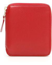 Comme des Garçons Colour Block Wallet - Red