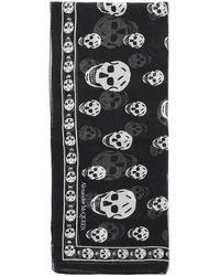 Alexander McQueen Silk Skull Scarf - Black