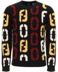 Fendi Code Sweater - Black