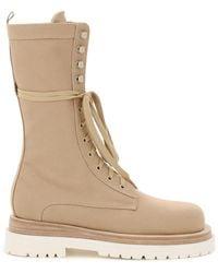 Magda Butrym - Urban Jungle Lace-up Boots 36 Cotton,denim - Lyst
