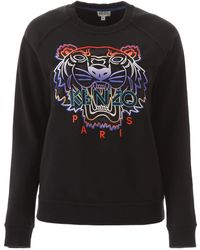KENZO Tiger Embroidery Sweatshirt - Black