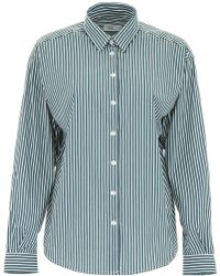 Closed Striped Aloise Shirt - Green