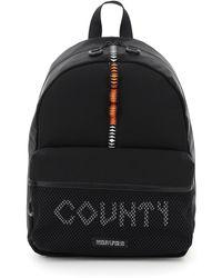 Marcelo Burlon County Tape Mesh Backpack Os Technical - Black