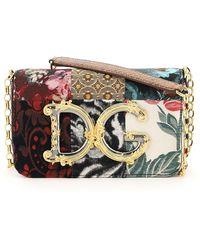 Dolce & Gabbana MINI BAG PATCHWORK DG GIRL BAROCCO - Multicolore
