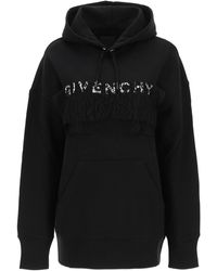 Givenchy Hoodie With 4g Logo And Lace - Black