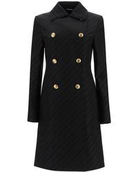 Givenchy Chaîne Coat With 4g Buttons 36 Cotton - Black