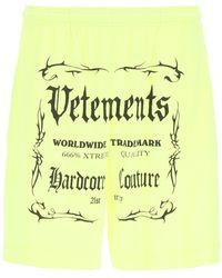 Vetements Black Label Logo Shorts S Cotton - Multicolour