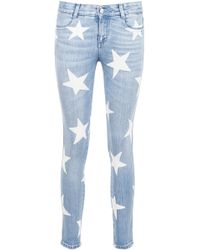 Stella McCartney - Star Print Jeans - Lyst