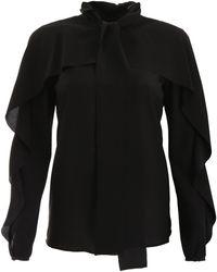 RED Valentino Ruffled Shirt - Black