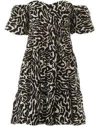 Pinko Zebra Print Mini Dress - Black