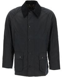 Barbour Ashby Waxed Jacket S Cotton - Blue
