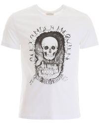 Alexander McQueen Skull Logo T-shirt - White