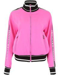 Dolce & Gabbana Contrast Trim Bomber Jacket - Pink
